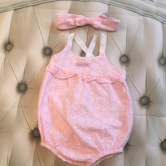Girls' Clothing (newborn-5t) Clothing, Shoes & Accessories Pink Calvin Klein Baby Girls Dress 3-6 Months